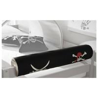 Týlní polštář k posteli KENI PIRAT černá/bílá/červená 2