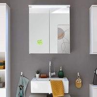 Zrcadlová skříňka POOL 60 cm, bílá vysoký lesk 4