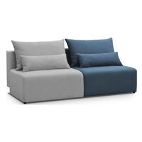 Pohovka PORTO sivá/modrá 3