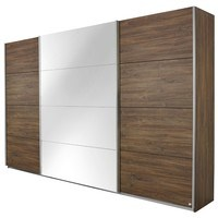 Šatní skříň QUADRA 315 dub stirling/zrcadlo 1