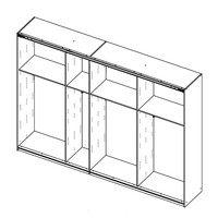Šatní skříň QUADRA 315 dub stirling/zrcadlo 3