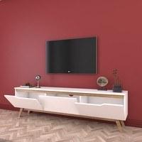 TV stolek  QUINN bílá/světlý ořech 3