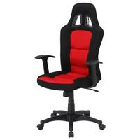 Otočná židle REDDY černá/červená 1