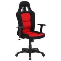 Otočná židle REDDY černá/červená 2