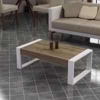 Konferenční stolek  RETRO ořech/bílá 2