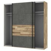Šatní skříň  RICCIANO dekor dub parketový/tmavě šedá 3