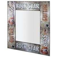 Zrkadlo ROCK sivá 1