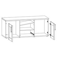 TV stolek  ROMANCE 45 modřín/dub sanremo 3