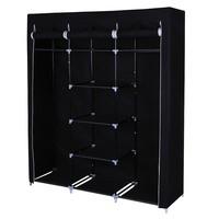 Látková šatní skříň RYG12 černá 5