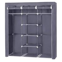 Látková šatní skříň RYG12 šedá 1