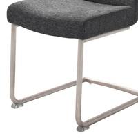 Jídelní židle SADIE 2 antracitová 4