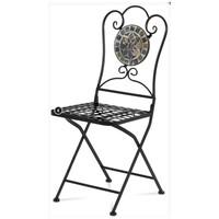 Kovová skladacia stolička SAGARA čierna 1