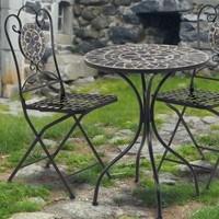 Kovová skladacia stolička SAGARA čierna 2