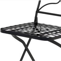 Kovová skladacia stolička SAGARA čierna 4
