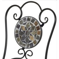 Kovová skladacia stolička SAGARA čierna 5