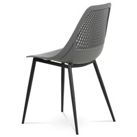 Jedálenská stolička SALLY sivá/čierna 4