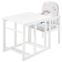 Detská kombinovaná stolička SARAN biela/motív jednorožci 4