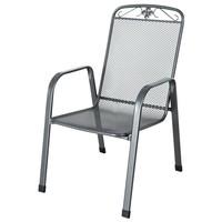 Stohovatelná židle SAVOY šedý kov 1