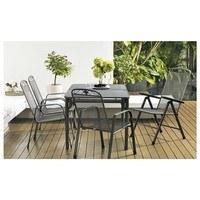 Stohovatelná židle SAVOY šedý kov 2