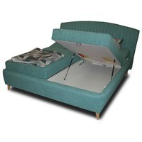 Polohovacia posteľ  SHELLY tyrkysová, 180x200 cm 2