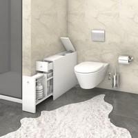 Koupelnová skříňka SMART bílá 4