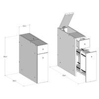 Koupelnová skříňka SMART bílá 5