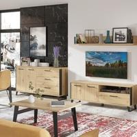 Konferenční stolek SOFT LT15 dub artisan/černá 2