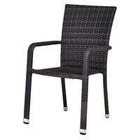 Zahradní židle  SOLESINO tmavě šedá 1