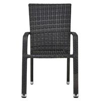 Zahradní židle  SOLESINO tmavě šedá 5