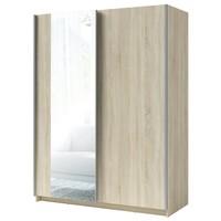 Šatní skříň se zrcadlem SPLIT dub sonoma, šířka 180 cm 1