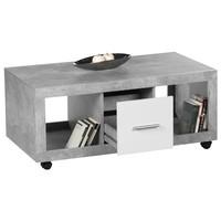 Konferenční stolek STONE beton/bílá 2