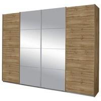 Šatní skříň SYNCRONO 2 dub wotan/zrcadlo 1