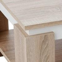 Konferenční stolek TIM II dub sonoma/bílá 3