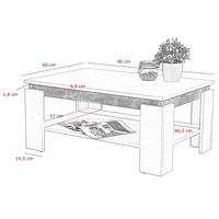 Konferenční stolek TIM II dub sonoma/bílá 4