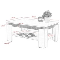 Konferenční stolek TIM II beton/bílá 4