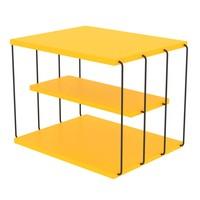 Prístavný stolík TLOS LIFON žltá/čierna 1