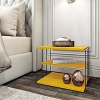 Prístavný stolík TLOS LIFON žltá/čierna 2