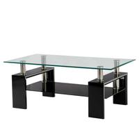 Konferenčný stolík TOLEDO čierna/sklo 1