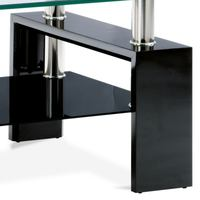 Konferenčný stolík TOLEDO čierna/sklo 3