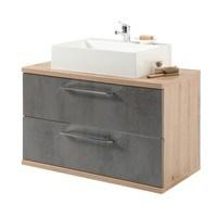 Umývadlová skrinka TROJA dub artisan/antracitová 1