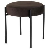 Stolička TULAU tmavě hnědá/černá 1