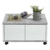 Konferenční stolek TWIN beton/bílá 1