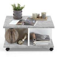 Konferenční stolek TWIN beton/bílá 3