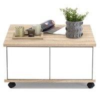 Konferenční stolek TWIN dub sonoma/bílá 1