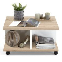 Konferenční stolek TWIN dub sonoma/bílá 3