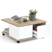 Konferenční stolek TWIN dub sonoma/bílá 4
