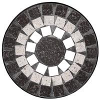 Zahradní stojan na květiny  US1008 černá/mozaika 2