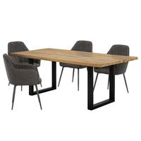 Jídelní stůl  VANCOUVER dub/černá 2