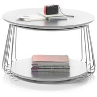 Prístavný stolík VENUTO biela, 70 cm 5