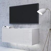 TV komoda VIVO VI 1 LED 100 cm, bílá vysoký lesk 2